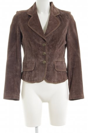 Leather Sound Lederjacke braun Business-Look
