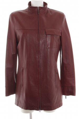 Leather Sound Leather Jacket red casual look
