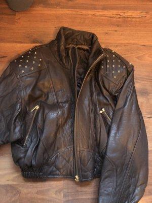 Leather Sound Lederjacke Bikerjacke braun echtes Leder