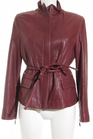 Leather Sound Lederjacke bordeauxrot Used-Optik