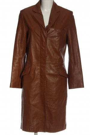 Leather Sound Leather Coat brown casual look
