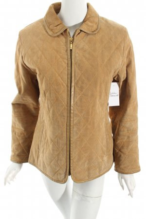 Leather Sound Steppjacke goldorange Steppmuster Business-Look
