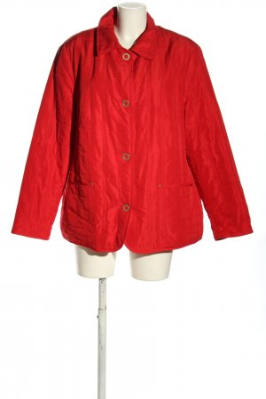 Lebek Quilted Jacket red quilting pattern casual look