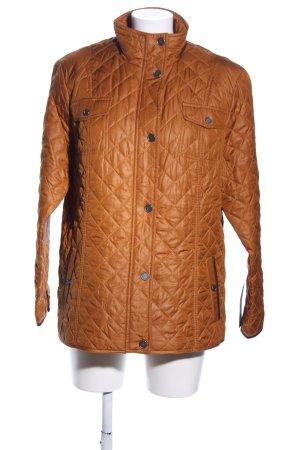 Lebek Gewatteerd jack bruin quilten patroon casual uitstraling