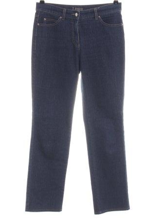 Lebek Straight-Leg Jeans blau Business-Look