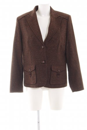 Lebek Tweedblazer braun meliert Business-Look