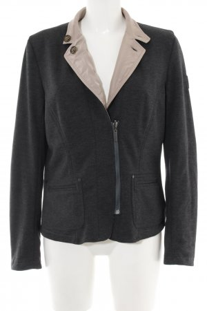 Lebek Reversible Jacket natural white-black flecked casual look