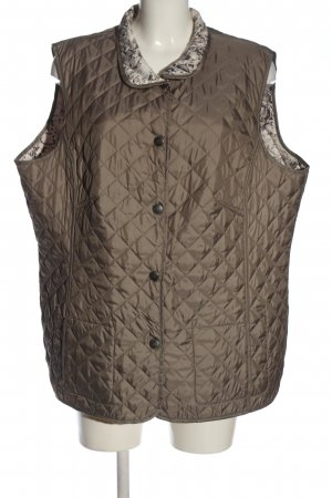 Lebek Reversible Vest khaki quilting pattern casual look