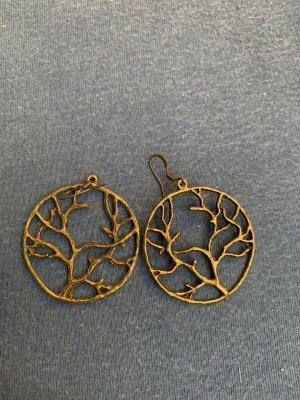 Handmade Pendientes de cuentas color bronce