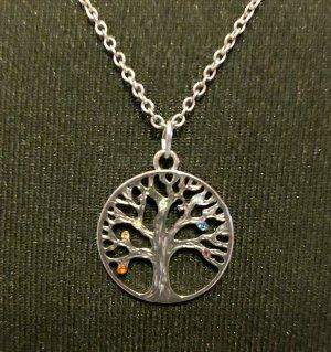 Lebensbaum Kette Silber Gemseller