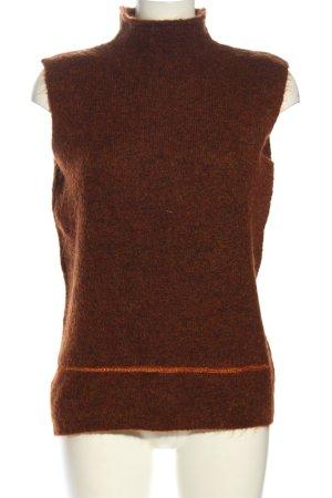 Lecomte Cardigan lungo marrone elegante