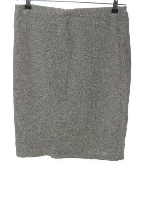 Lecomte Jupe tricotée gris clair moucheté style décontracté