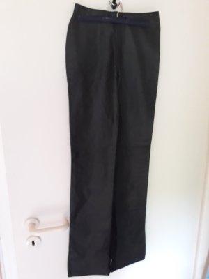 ledapol Pantalon en cuir noir