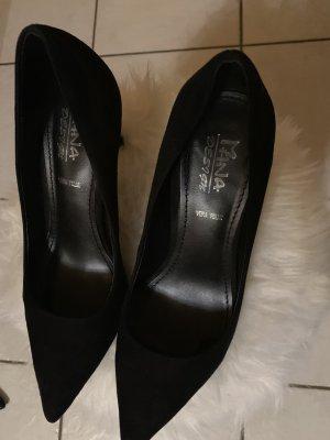 Leder Absatz Business Schuhe