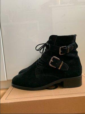 Asos Korte laarzen zwart Leer