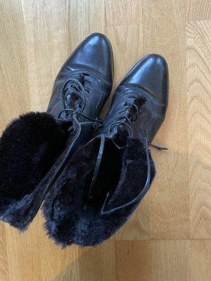Leder ankle boots, Stiefeletten