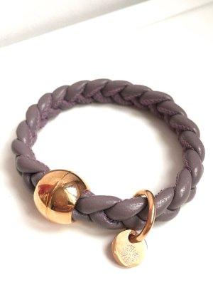 Leder Armband geflochten • qudo Codino • roségold