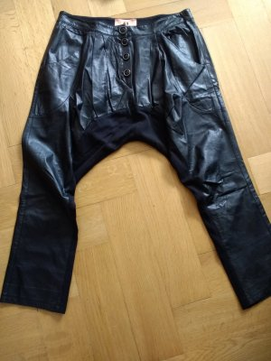 Marcel Ostertag Leather Trousers black leather