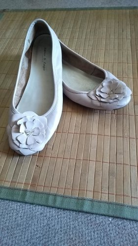 Zanon & Zago Slingback Ballerinas cream leather