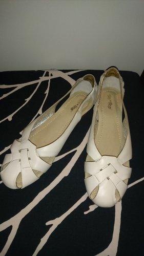 Leder Ballerina weiß von Flip Flop Gr. 38