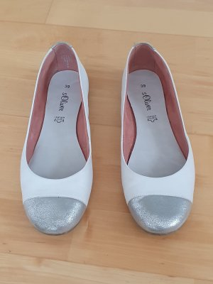 s.Oliver Classic Ballet Flats white-silver-colored