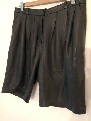 Leder Bermuda/Shorts, Grauton