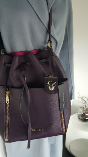 Marc Cain Pouch Bag lilac-dark violet leather