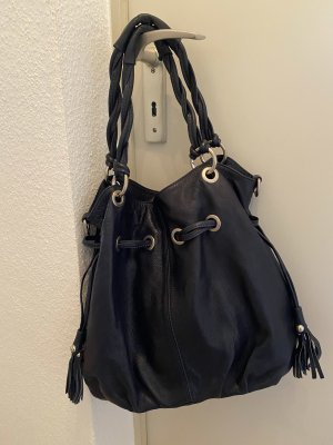 Hanna White Pouch Bag dark blue