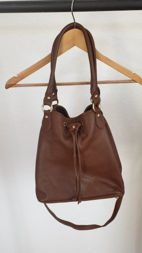 Pouch Bag cognac-coloured