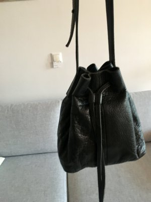 Selected Femme Pouch Bag black leather