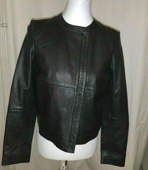 H&M Premium Leather Jacket black