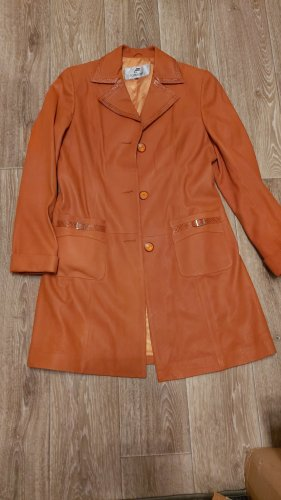 Blazer en cuir orange