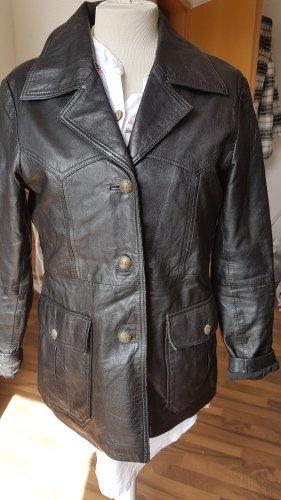 Gipsy Veste en cuir noir