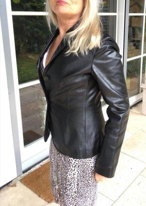 Hugo Boss Blazer in pelle nero Pelle