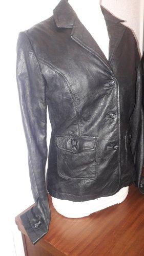 Ricano Leather Blazer black