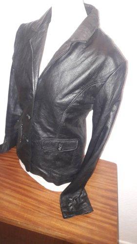 Leder Blazer Nappa Black