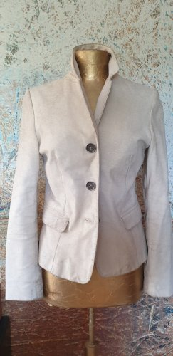 Gipsy Leather Blazer natural white-oatmeal leather