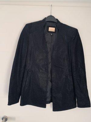 MNG Genuine Leather Blazer en cuir noir