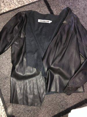 Only Fashion Blazer de cuero negro