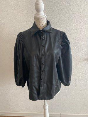 Leren shirt zwart