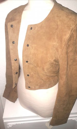 Ricano Leather Blouse brown-cognac-coloured