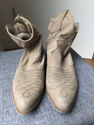 Zara Stivaletto western grigio chiaro-marrone-grigio