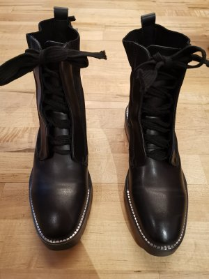 Sixtyseven Lace-up Booties black-silver-colored