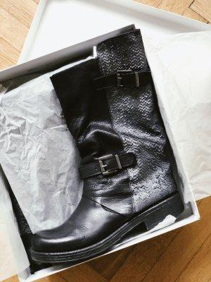 Biker Boots black-dark grey