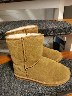 Leder Boots Lammfell