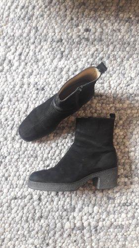 Leder Boots mit klobiger Sohle