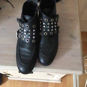 Leder Boots mit Nieten
