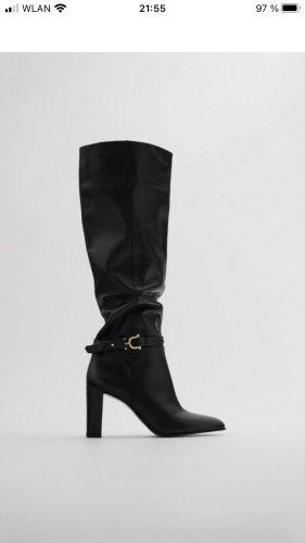 Leder Boots , Overknee Boots , Stiefel , Zara Neu Gr.38