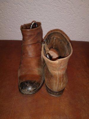 Leder Boots Stiefeletten braun 38 Mango