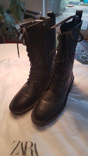 Leder Boots,Stiefeletten ZARA NEU